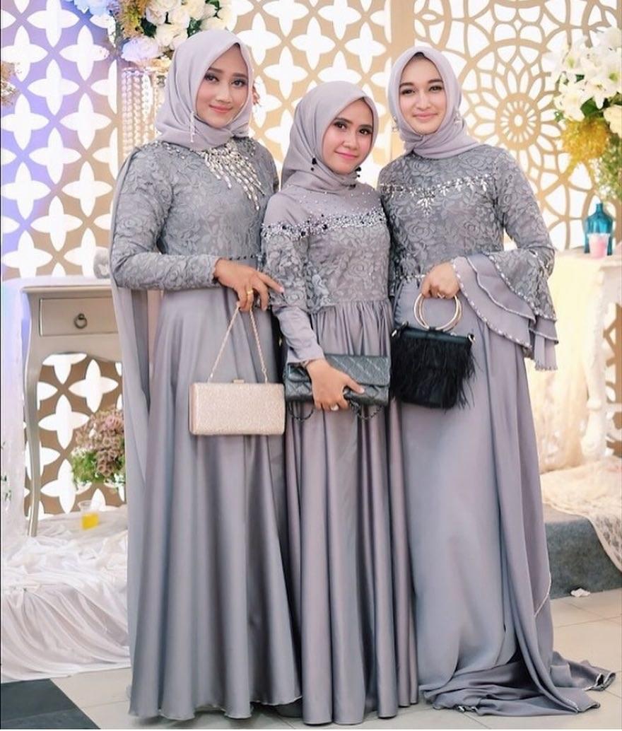 Design Gaun Pengantin Muslimah Biru Ipdd Bridesmaid Hijab Dress – Fashion Dresses