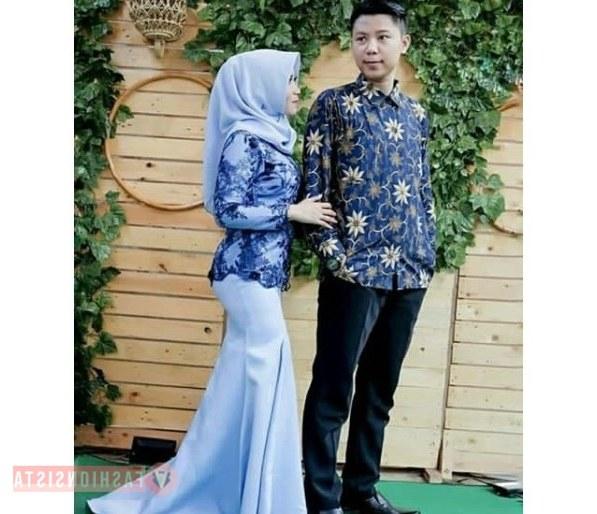 Design Gaun Pengantin Muslimah Biru Q5df Model Kebaya Duyung Model Kebaya Terbaru 2019
