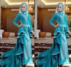 Design Gaun Pengantin Muslimah Biru Tldn 12 Best Desain Baju Muslim Terbaru Images