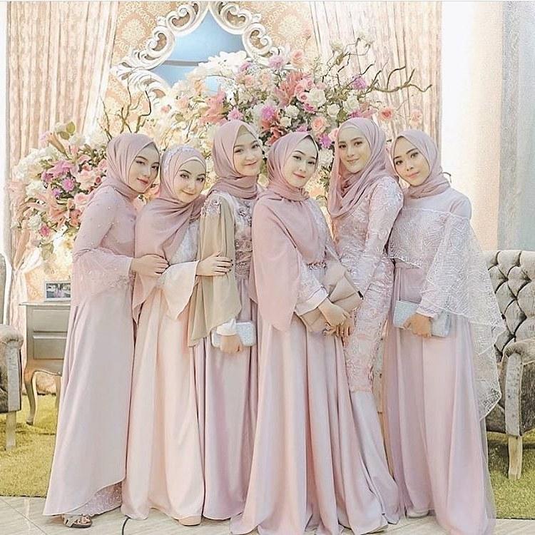 Design Gaun Pengantin Muslimah Biru Tldn Bridesmaid Hijab Dress – Fashion Dresses