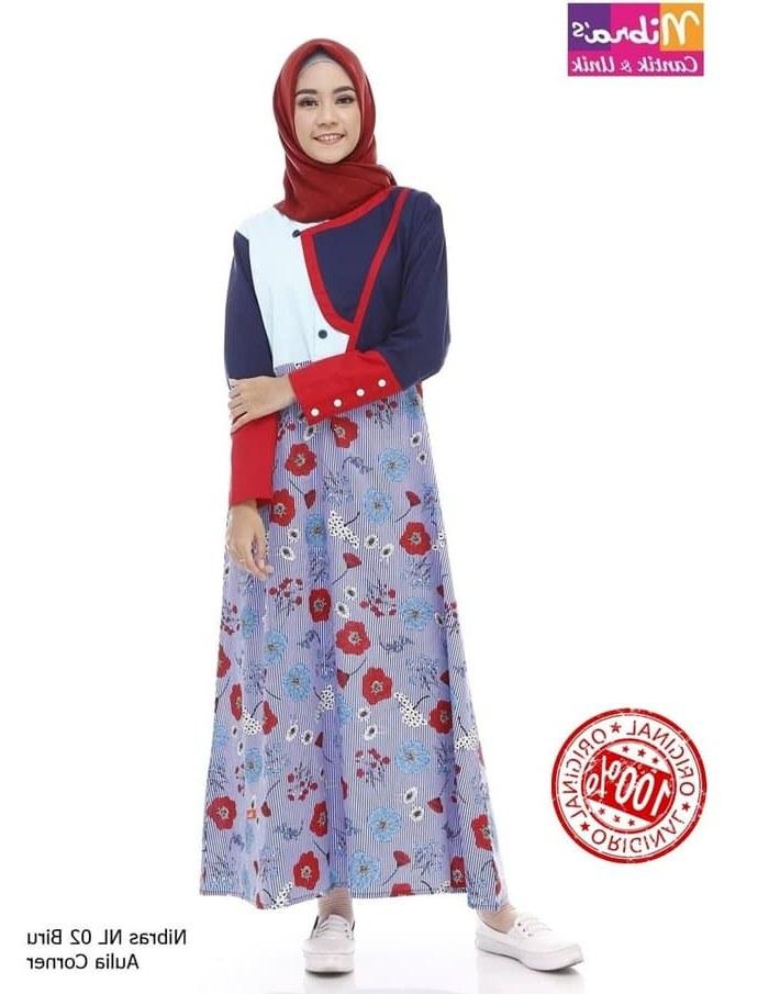Design Gaun Pengantin Muslimah Biru Whdr Jual Laris Model Baju Pesta Muslim Nibras Nl 02 Biru original Kab Mojokerto Mama Store1
