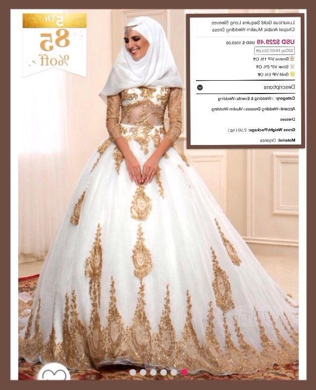 Design Gaun Pengantin Muslimah Gold 9ddf Silver Muslim Wedding Dress – Fashion Dresses