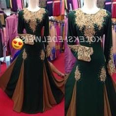 Design Gaun Pengantin Muslimah Gold Ftd8 16 Best Gaun Pengantin Muslimah Malaysia Images