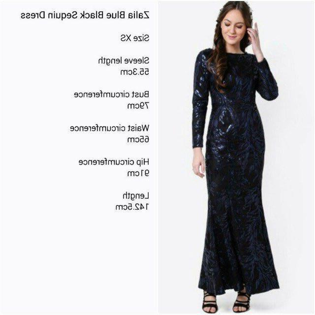 Design Gaun Pengantin Muslimah Gold Jxdu Rent Sewa Zalia Blue Black Sequin Dress