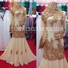 Design Gaun Pengantin Muslimah Gold Tldn 16 Best Gaun Pengantin Muslimah Malaysia Images