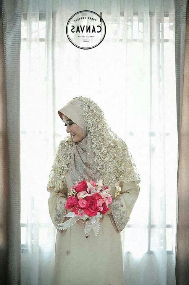 Design Gaun Pengantin Muslimah Syar'i Rabbani H9d9 Beautiful Malay Muslim Bride by Canvas Studio