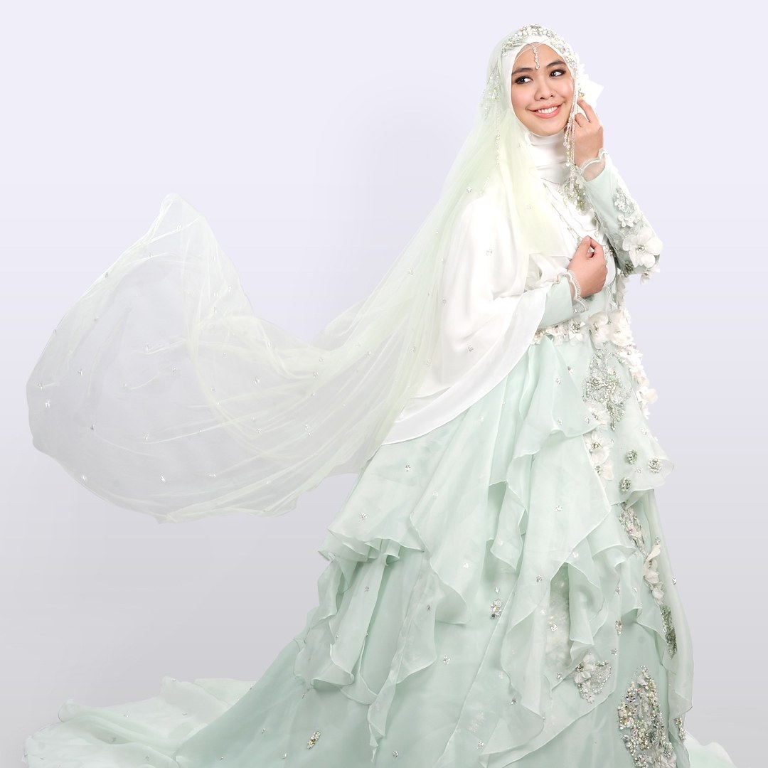 Design Gaun Pengantin Muslimah Syar'i Rabbani Tqd3 7 Desain Baju Pengantin Syar I Modern Ala Desainer Wanita
