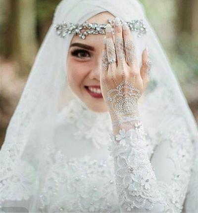 Design Gaun Pengantin Muslimah Termewah 8ydm Tampak Elegan Ini Dia 5 Warna Gaun Pengantin Muslimah
