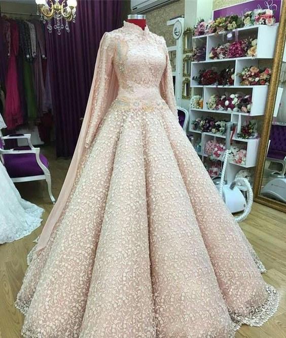 Design Gaun Pengantin Muslimah Termewah Bqdd 20 Model Baju Pengantin Muslimah Modern Terbaru