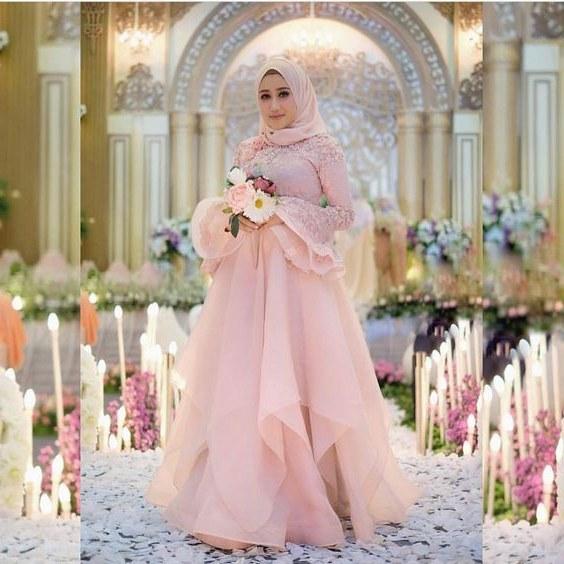 Design Gaun Pengantin Muslimah Termewah D0dg 20 Model Baju Pengantin Muslimah Modern Terbaru