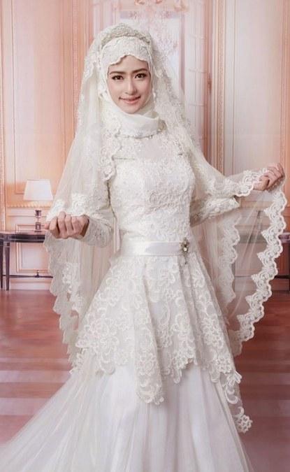 Design Gaun Pengantin Muslimah Termewah Ftd8 Gaun Kebaya Pengantin Muslimah Modern
