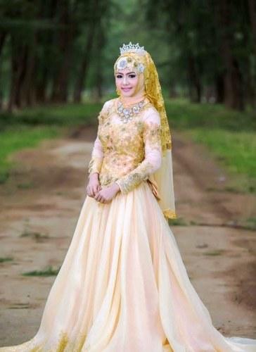 Design Gaun Pengantin Muslimah Termewah Y7du 24 Gaun Pengantin Muslimah Sederhana Tapi Modern