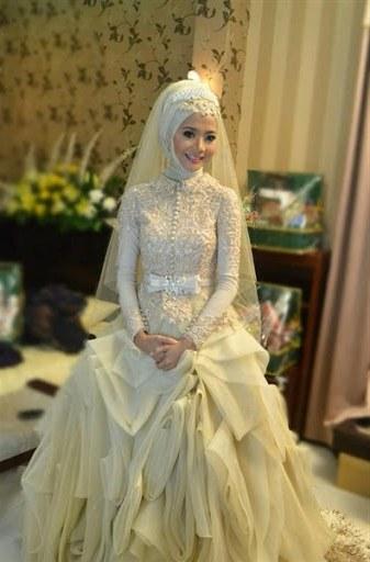 Design Gaun Pengantin Muslimah Untuk Tubuh Mungil Dwdk 20 Gaun Pengantin Muslimah Berbagai Model Untuk Pernikahanmu