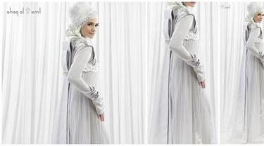 Design Gaun Pengantin Muslimah Untuk Tubuh Mungil Wddj 6 Gaun Pengantin Muslimah Elegan Beauty Fimela