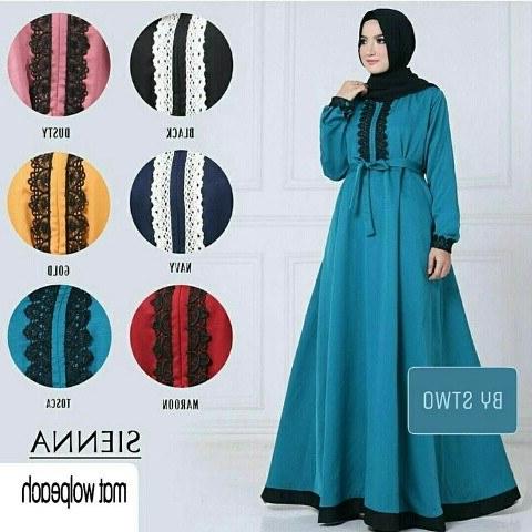 Design Gaun Pengantin Muslimah Warna Gold Dwdk Sienna Dress Maxy