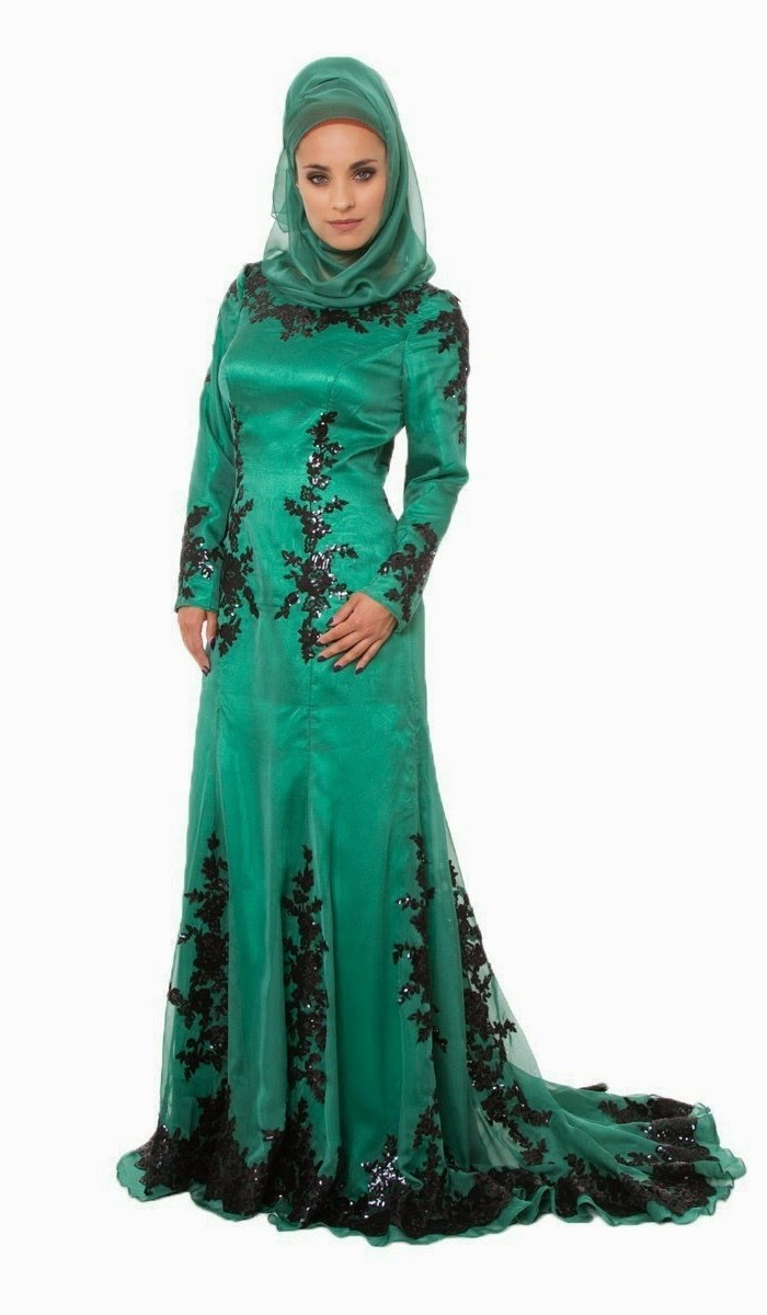 Design Gaun Pengantin Muslimah Warna Hijau 9fdy Baju Gamis Hijau