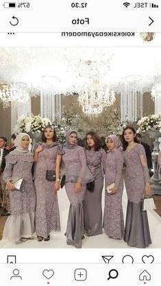 Design Gaun Pengantin Muslimah Warna Hijau Mndw 104 Best Bridesmaid Dress Images In 2019