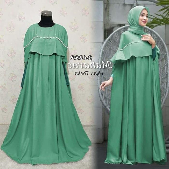 Design Gaun Pengantin Muslimah Warna Hijau Tldn Jual Jubah Gamis Dress Maharae Kaftan Hijau tosca 2 In 1 Dki Jakarta Barokah Ku