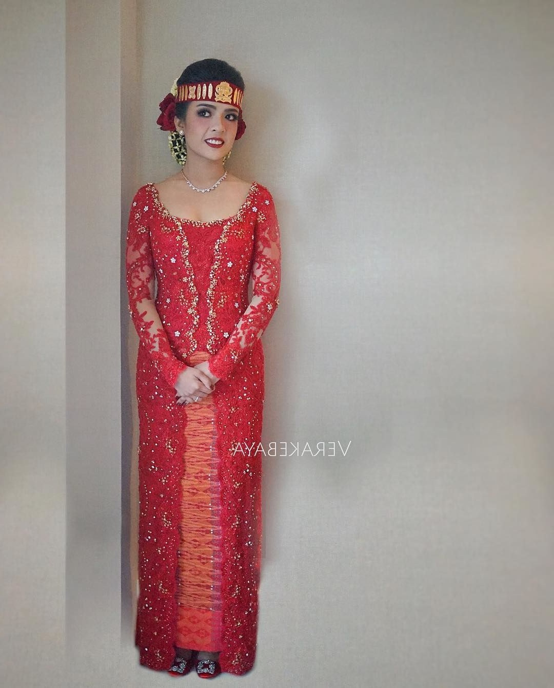 Design Gaun Pengantin Muslimah Warna Merah O2d5 15 Busana Adat Batak