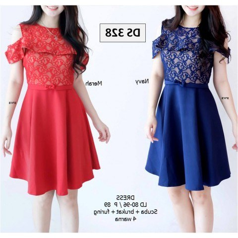 Design Gaun Pengantin Muslimah Warna Merah U3dh Seds328 Dress Pesta Brukat Bodycon Scuba Furing Wanita Murah Grosir