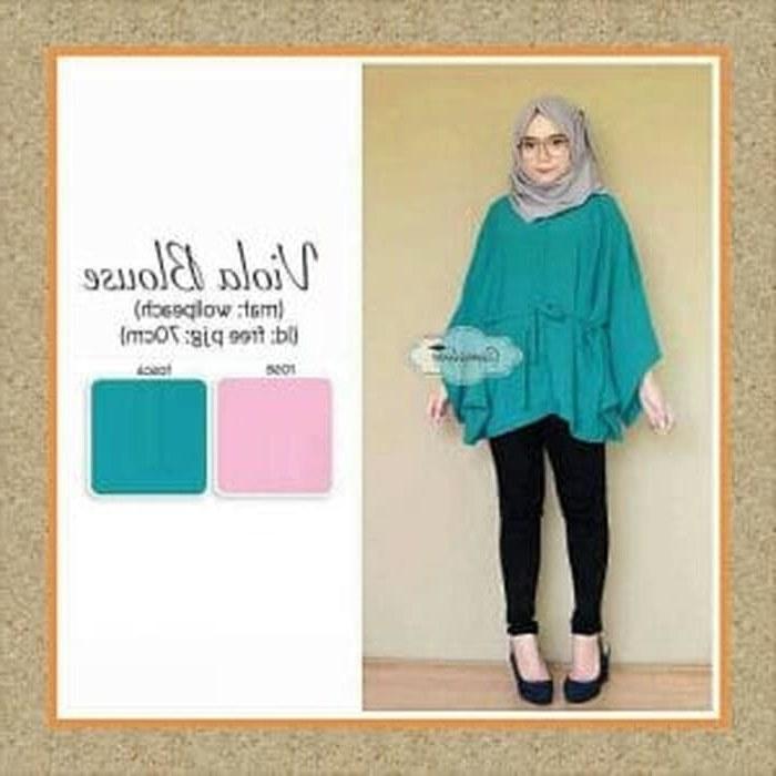 Design Grosir Baju Pengantin Muslim D0dg Jual Baju Wanita Baju Muslim Wanita atasan Blouse Viola Blouse Kota Bandung Poshbee Shop