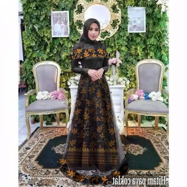 Design Grosir Baju Pengantin Muslim Fmdf Maxi Dress Badriah Batik Maxi Serela Batik