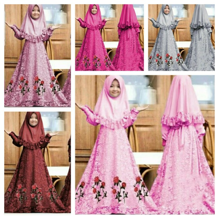 Design Harga Baju Pengantin Muslim Drdp Jual Baju Muslim Gamis Anak Herbie Kids Od Jersey Mix Brukat Fit 4 6thn Fuchsia Dki Jakarta Megumi Store