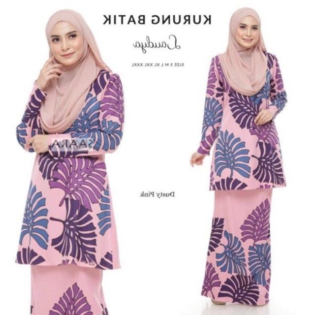 Design Jual Baju Pengantin Muslimah Murah 9fdy Free Postage Ready Stock Raya 2019 Kurung Batik Laudya Pastel Yusnita