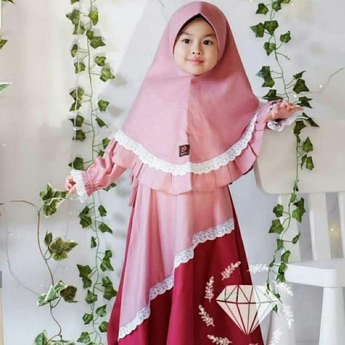 Design Jual Gaun Pengantin Muslimah Budm Jual Od 2 Wrn Syari Kid Syahira Gamis Baju Busana Muslim Anak Perempuan Dki Jakarta Ferisna Os