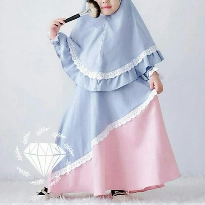 Design Jual Gaun Pengantin Muslimah X8d1 Jual Od 2 Wrn Syari Kid Syahira Gamis Baju Busana Muslim Anak Perempuan Dki Jakarta Ferisna Os