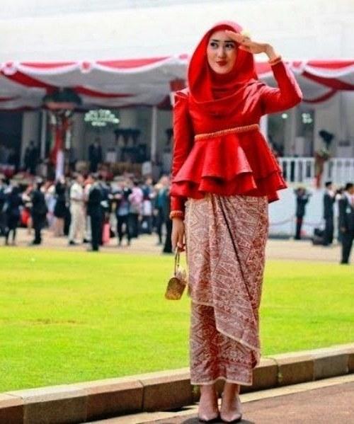 Design Model Baju Pengantin Muslim Whdr Model Rok Panjang songket