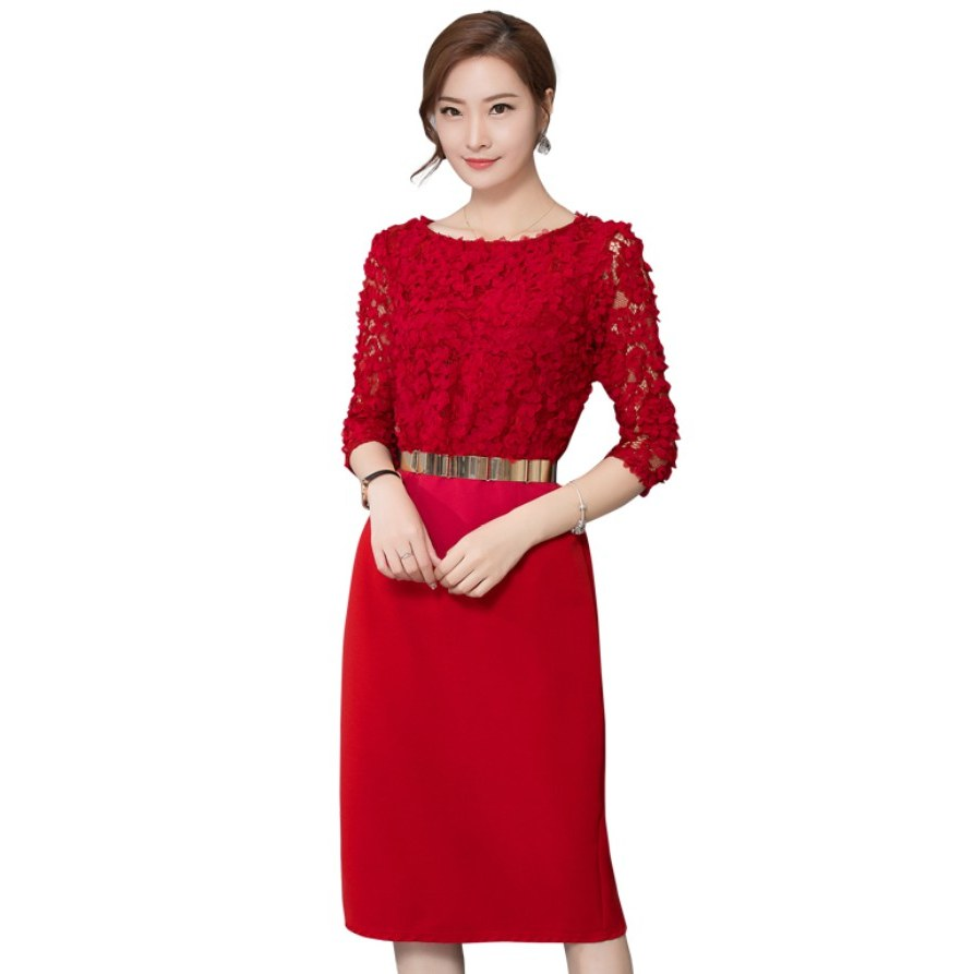 Design Model Baju Pernikahan Muslimah T8dj Women New Red Lace Prom Gown Dinner Party Wedding Cocktail Engagement Dresses