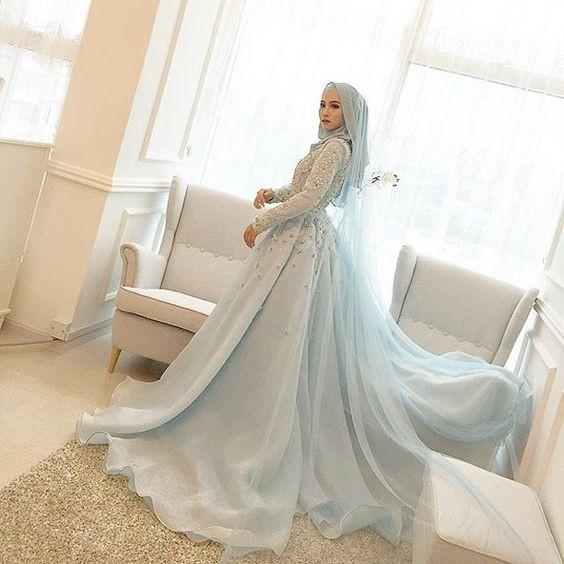 Gaun Pengantin Cantik Berhijab Fresh 10 Desain Gaun Pengantin Dengan Hijab Desain Gaun Pengantin
