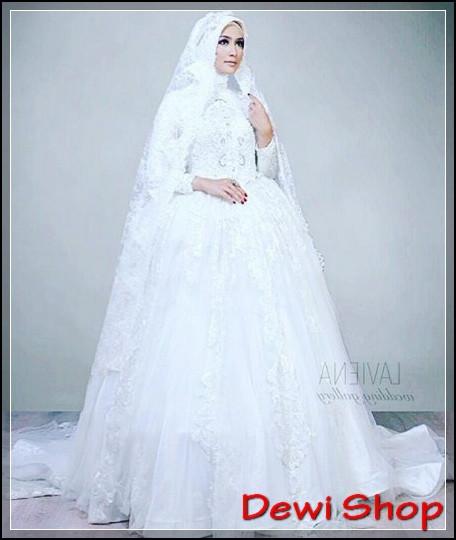 Gaun Pengantin Cantik Berhijab Inspirational 50 Model Gaun Pengantin Putih Modern Dan Elegan Dewi Shop