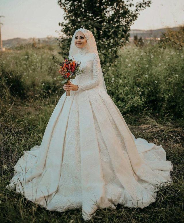 Gaun Pengantin Cantik Berhijab Luxury 15 Variasi Gaun Pengantin Internasional Hijab Yang sopan