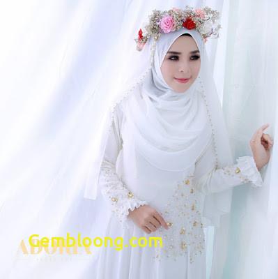 Gaun Pengantin Hijab Minimalis Fresh 32 Inspirasi Model Baju Pengantin Muslimah Modern Masa Kini