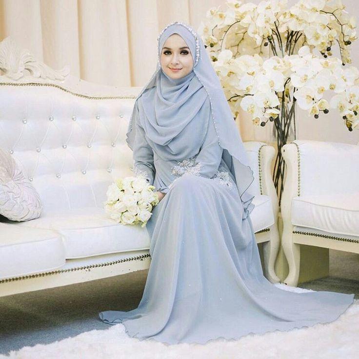 Gaun Pengantin Muslim Simple Elegan Awesome Brilian Listiana Visi Blistianavisi On Pinterest