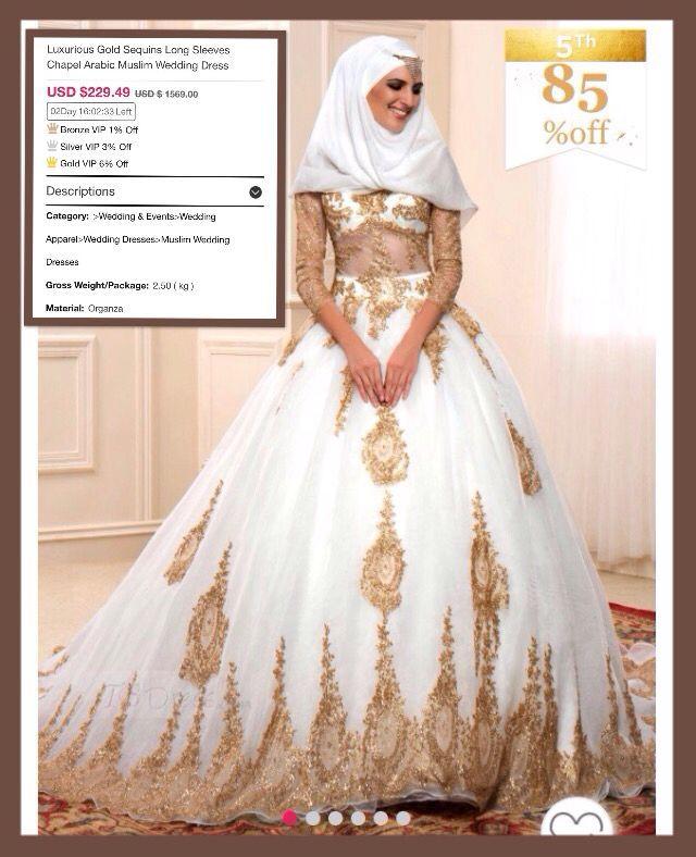 Gaun Pengantin Muslim Simple Elegan Fresh Silver Muslim Wedding Dress – Fashion Dresses