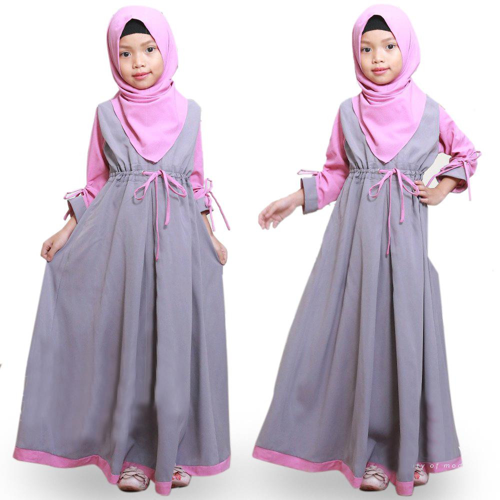 Gaun Pengantin Muslim Simple Elegan Lovely Baju original Gamis Renata Kids Dress Wolfice Trendy Modern Anak Baju Panjang Polos Muslim Gaun Main Dress Pesta Murah Terbaru Maxi Anak Muslimah