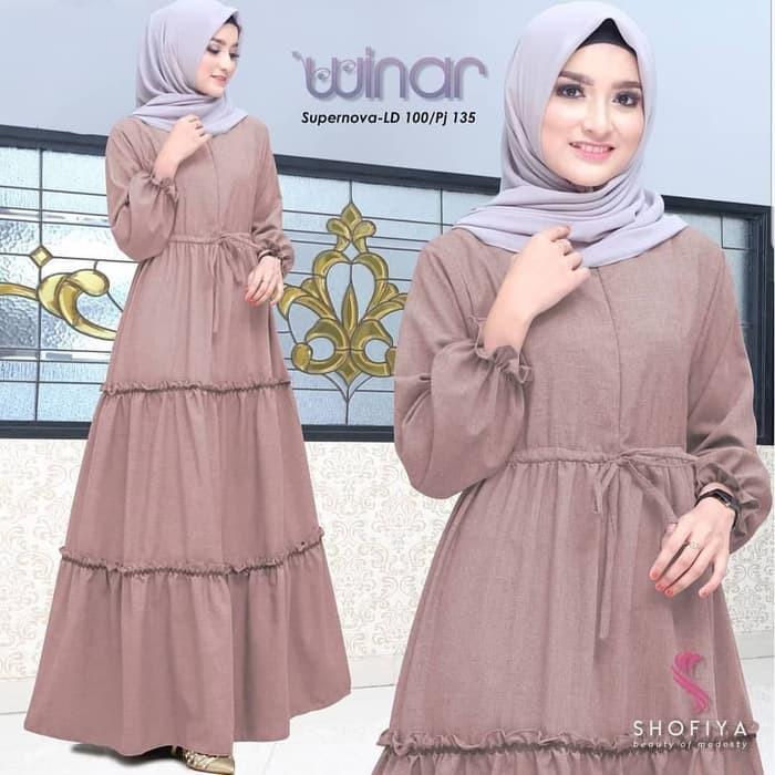 Gaun Pengantin Muslim Simple Elegan New Jual Winar Maxy Sr Baju Hijab Panjang Simple Gaun Kerja Trendy Gamis Muslim Kota Bandung Baju Baju original