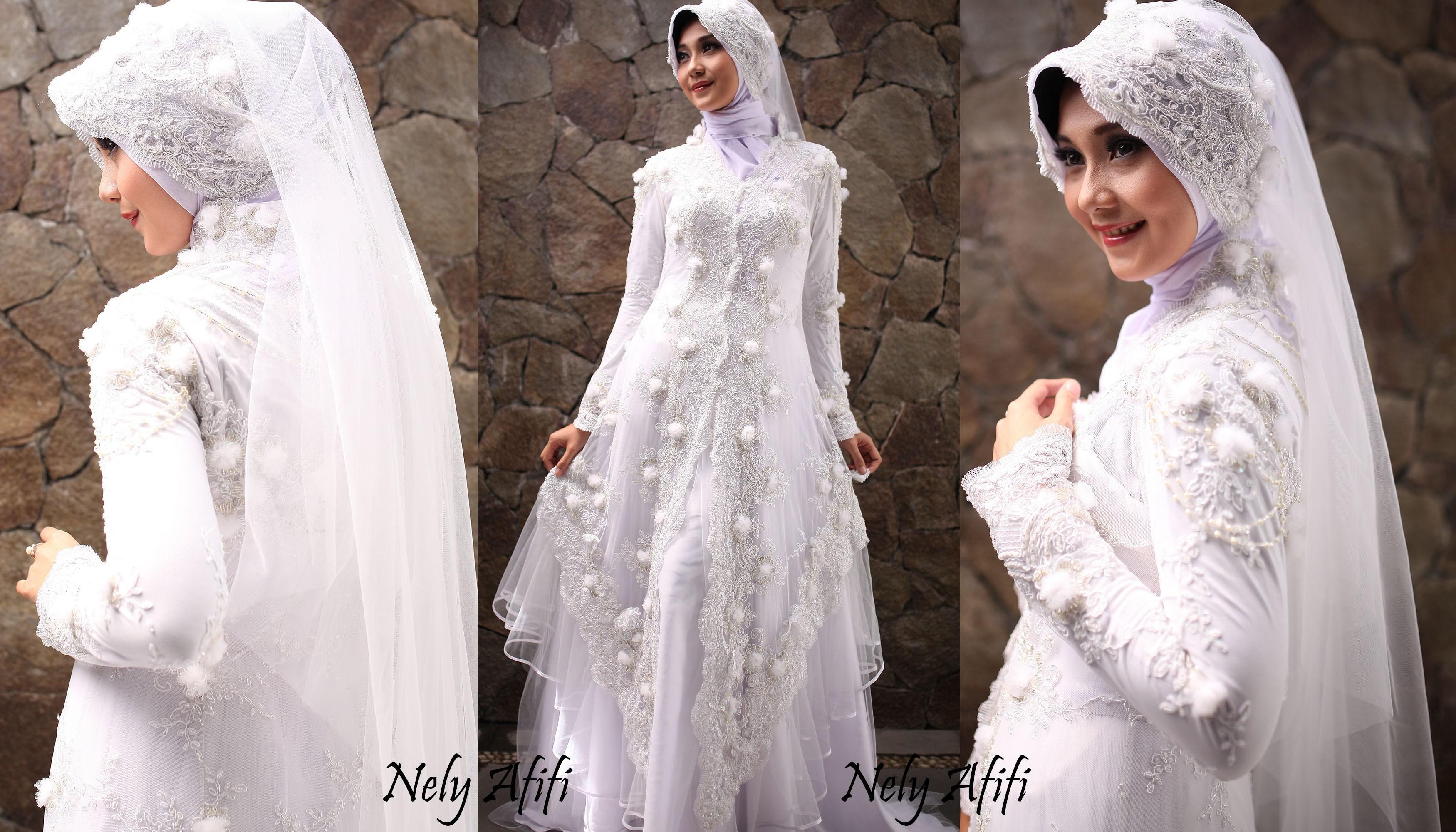Gaun Pengantin Muslimah Bercadar Elegant Foto Wanita Bercadar Modern Cantik Gaun Pengantin Muslimah