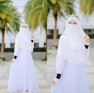Gaun Pengantin Muslimah Bercadar Elegant Gambar Gaun Pengantin Muslimah Bercadar