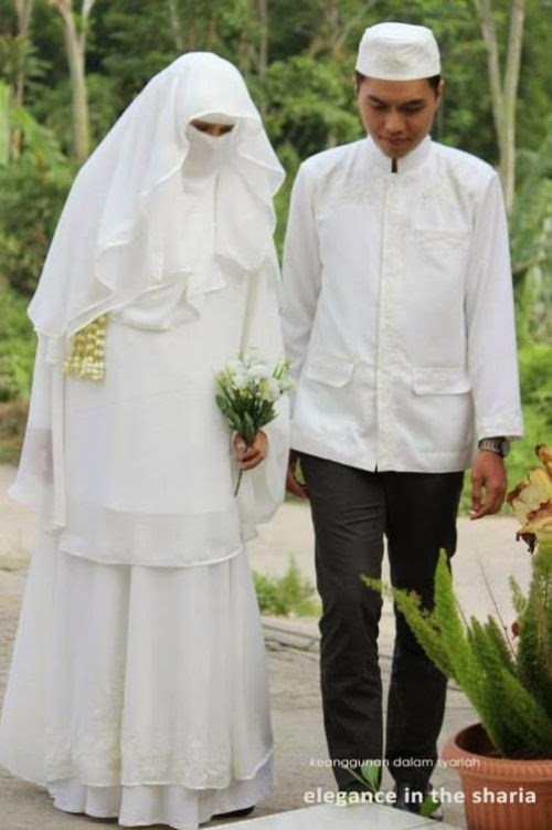Gaun Pengantin Muslimah Bercadar Lovely Dian Salon Rias Pengantin Profesional & E Stop Wedding