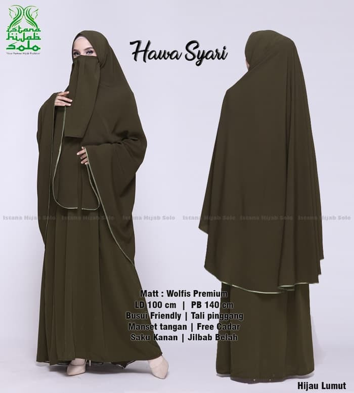 Gaun Pengantin Muslimah Bercadar Lovely Jual Setelan Gamis Muslimah Khimar Hawa Syar I by istana Hijab solo Kota Surakarta istana Hijab solo