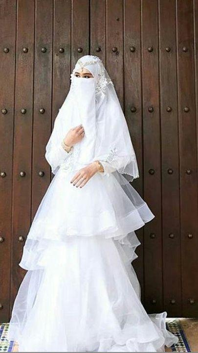 Gaun Pengantin Muslimah Bercadar Luxury Gaun Pengantin Wanita Bercadar