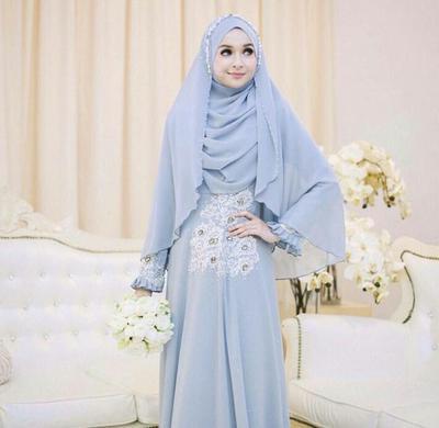 Gaun Pengantin Muslimah Bercadar New 10 Inspirasi Pilihan Gaun Pernikahan Muslim Syar I Yang Modern
