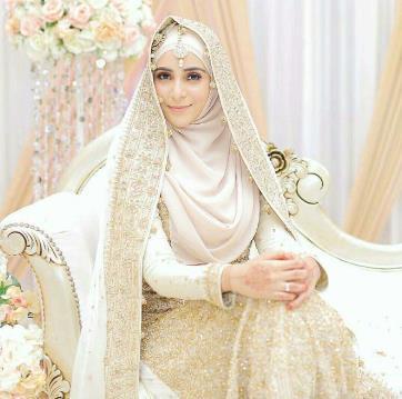 Gaun Pengantin Muslimah Bercadar Unique Gambar Gaun Pengantin Muslimah Bercadar