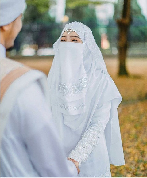Gaun Pengantin Muslimah Bercadar Unique Gaun Pengantin Muslimah Bercadar