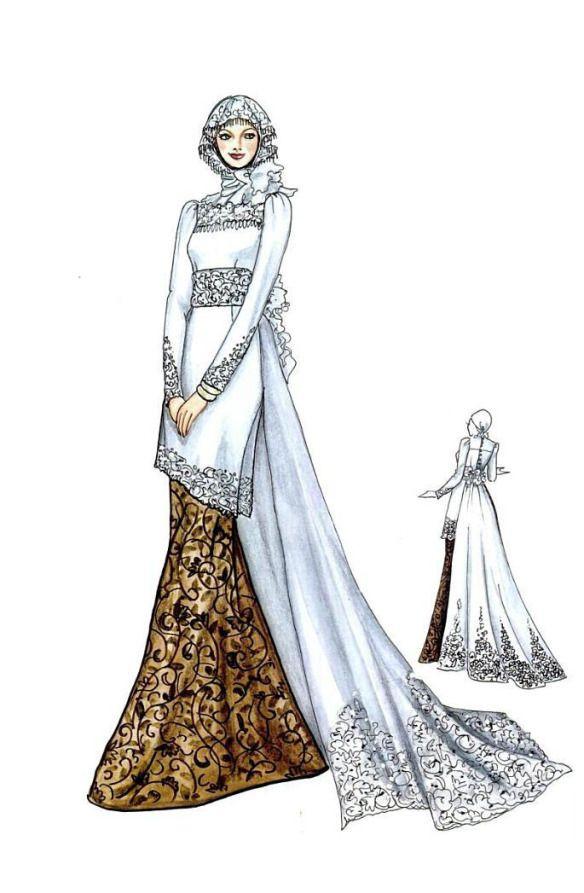 Gaun Pengantin Muslimah Mewah Inspirational Kebaya Dan Gaun Pengantin Muslim Model Pakaian