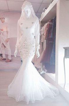 Gaun Pengantin Muslimah Mewah Luxury 144 Best Baju Nikah Putih Images In 2019